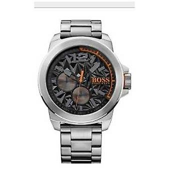 Hugo Boss Orange Mens New York Stainless Steel Bracelet Black Dial 1513406 Watch