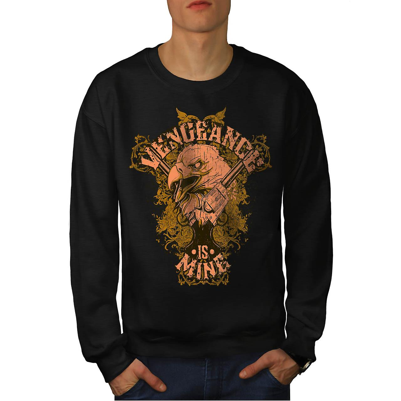 Vengeange Is Mine USA Eagle Prey Men Black Sweatshirt | Wellcoda