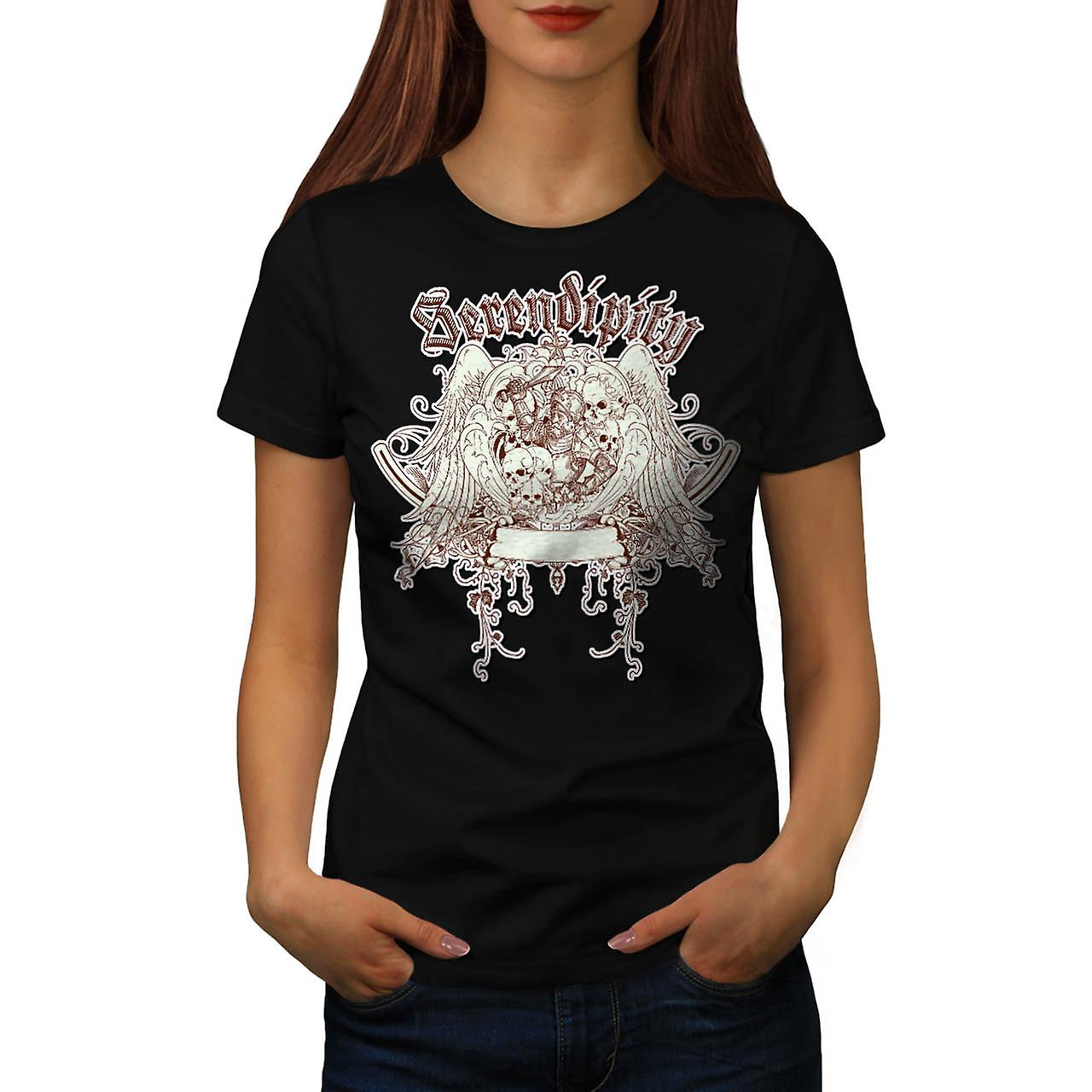 Serendipity Discover Grave Yard Women Black T-shirt | Wellcoda