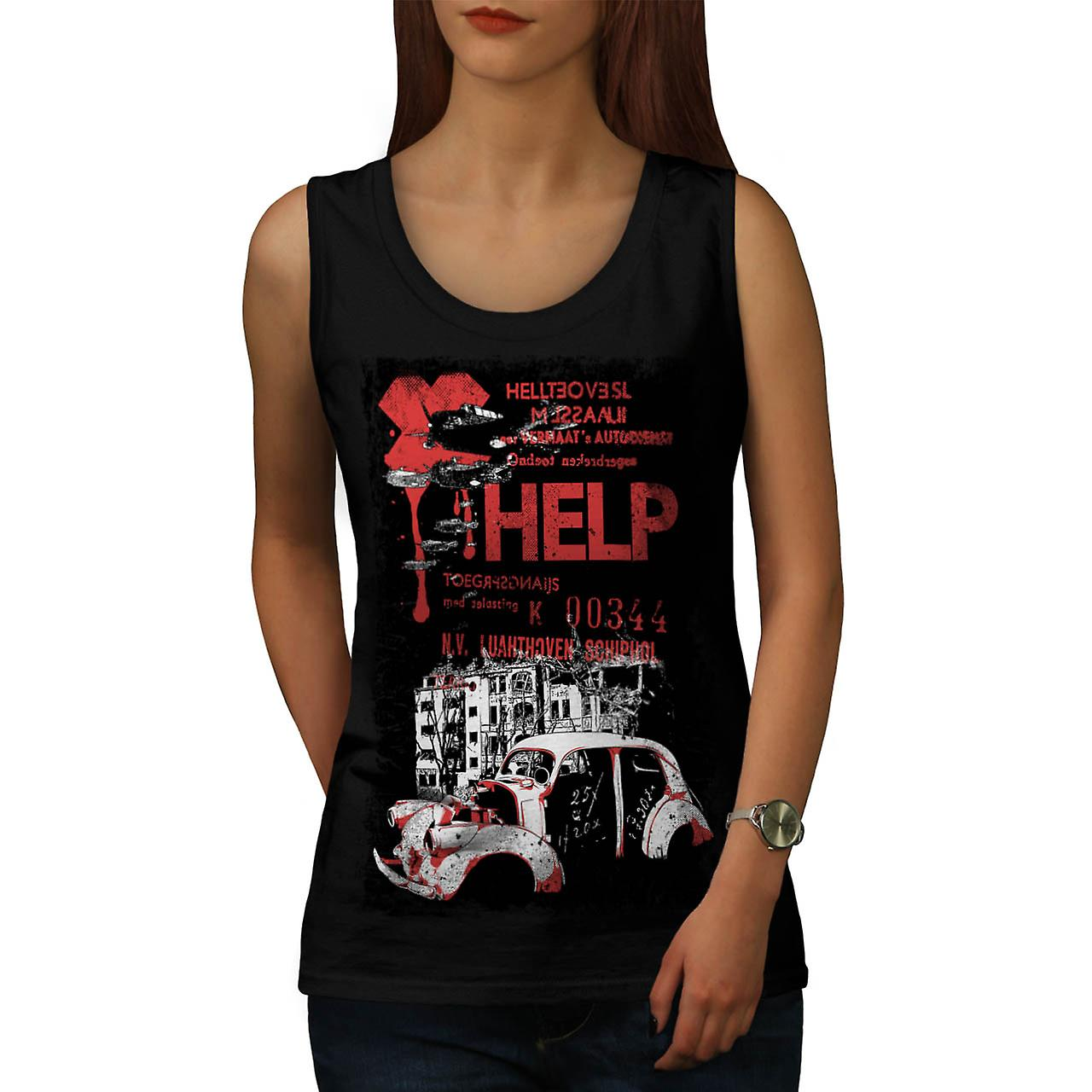 Help Hell City Fashion Women Black Tank Top | Wellcoda