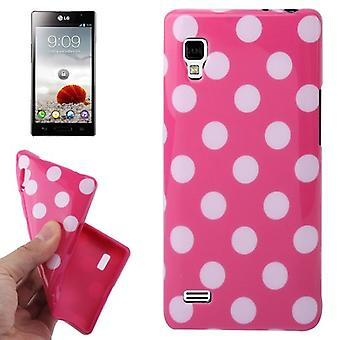 Protective case TPU points of case for mobile LG Optimus L9 / P760 pink