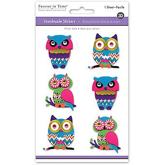 MultiCraft 3D Big Icons Stickers-Boho Owl SS802B