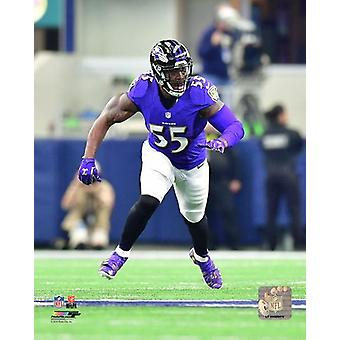Terrell Suggs 2016 Action Photo Print