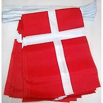 Denmark Flag Bunting Rectangular Flags