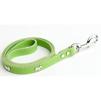 Doggy Things Westie Leather Dog Lead Green 115 X1.4cm