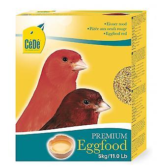 Afstå røde kanariefugl Premium æg fødevarer 5kg