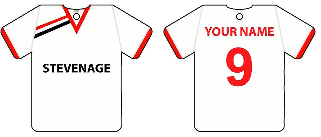 Deodorante per auto personalizzato Stevenage Football Shirt