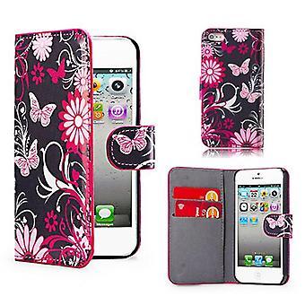 Design Buch Leder Case Cover für Apple iPod Touch 5 - Gerbera