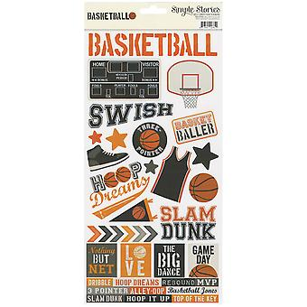 Simple Sets Basketball Cardstock Stickers 6