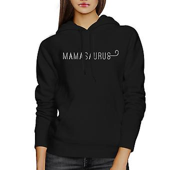 Mamasaurus svart Unisex enkel Design søte hettegenser For gutter mor