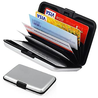 TRIXES Silver Aluminium Business Credit Card Name ID Case Holder Wallet Holder