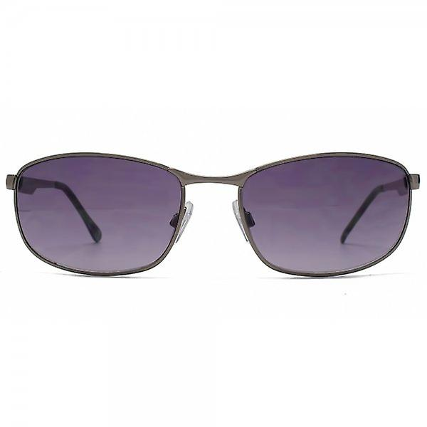 FCUK Oval Metal Sunglasses In Matte Dark Gunmetal
