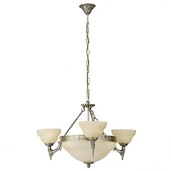Eglo Marbella 6 lichte traditionele plafond licht hanger Burnishe