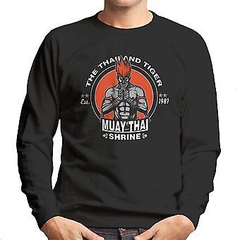 Thailand Tiger Adon Street Fighter mænds Sweatshirt