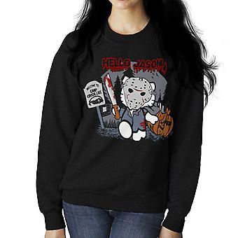 Hello Jason Friday 13th Kitty Women's Sweatshirt