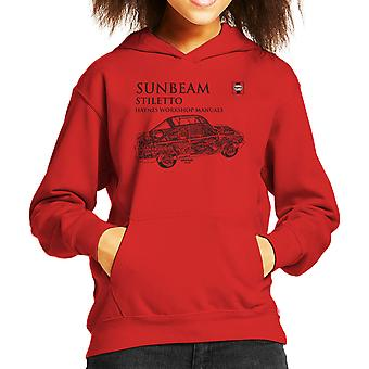 Haynes Workshop Manual 0022 Sunbeam Stiletto Black Kid's Hooded Sweatshirt