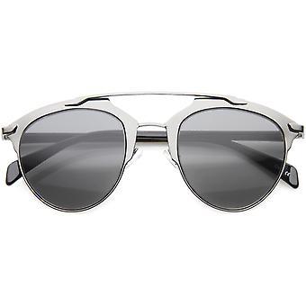 Moderne mode Metallic ramme dobbelt bro Pantos Aviator solbriller 50mm