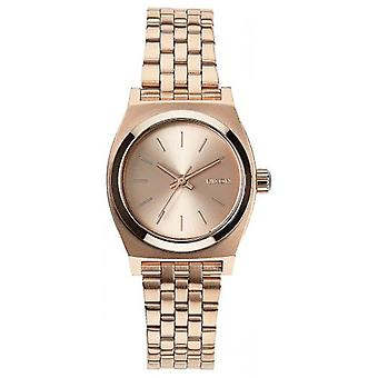 Nixon The Small Time Teller Watch - All Rose Gold
