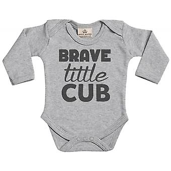 Spoilt Rotten Brave Little Cub Long Sleeve Organic Baby Grow