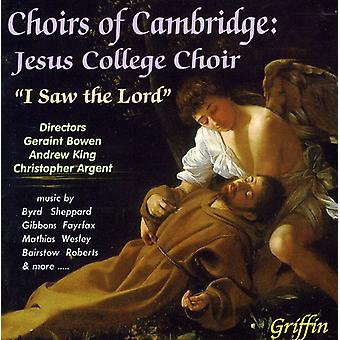 Jesus College kor - jeg så Herrens [CD] USA importen