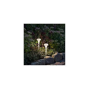 Konstsmide Assissi Set Of 2 Colour Changing LED Pod Post Lights