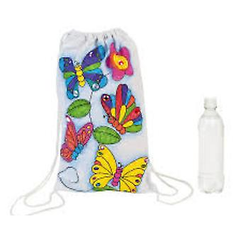 12 Butterfly Design Fabric Backpack for Kids Fabric Painting