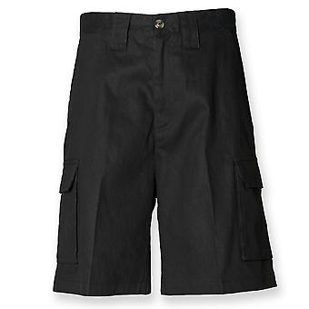 Henbury Mens Cargo Relax Fit Shorts