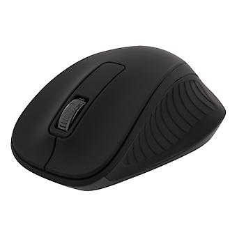 DELTACO wireless optical mouse 2.4 GHz, 3 buttons with scroll, black