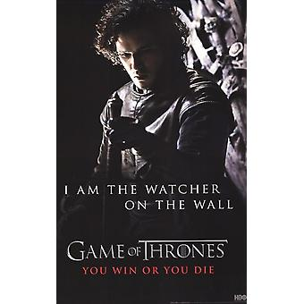Game of Thrones - Jon Snow - Watcher on the Wall Poster Poster Print