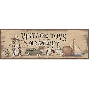 Vintage Toys Poster Print by Pam Britton (18 x 6)