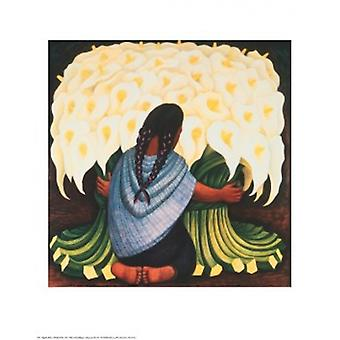 The Flower Seller Poster Print by Diego Rivera (24 x 30)