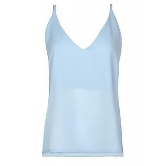 Tamaris ladies blouses top Blau spaghetti straps