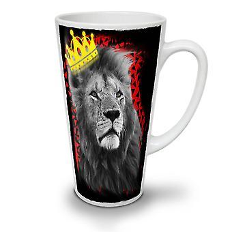 Royal Lion Kingdom NEW White Tea Coffee Ceramic Latte Mug 17 oz | Wellcoda