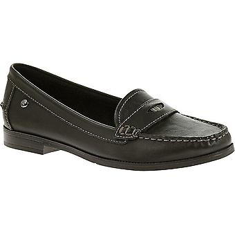 Hush Puppies Iris Sloan Womens Flat Loafer Slip On Leather Shoes