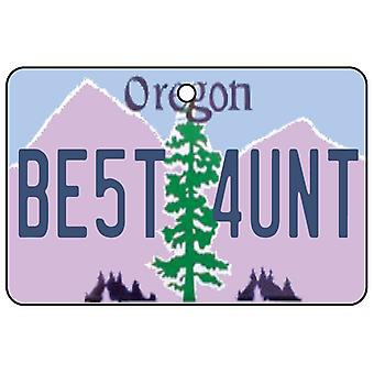 Oregon - Best Aunt License Plate Car Air Freshener