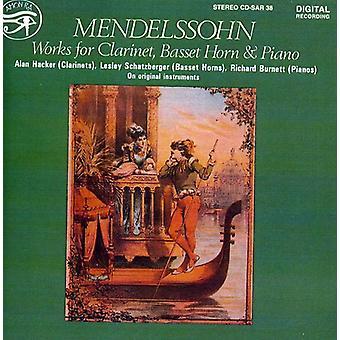 Hackerlan - Mendelssohn: Værker for klarinet, Basset Horn & Piano [CD] USA import