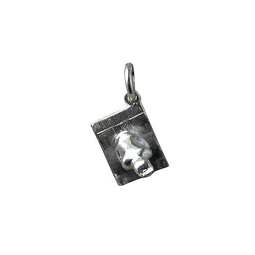 Silver 12x13mm Magic Carpet Charm