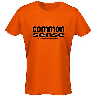 Common Sense Is Not A Superpower Womens T-Shirt 8 Colours (8-20) by swagwear