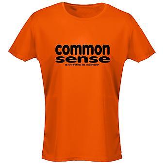 Sentido común es no una superpotencia para mujer camiseta 8 colores (8-20) por swagwear