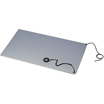 ESD bench mat set Grey (L x W) 900 mm x 600 mm BJZ C-184 102P 10.3 incl. PG strap, incl. PG connector, incl. PG cable