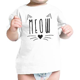 Meow spædbarn gave T-shirt hvid