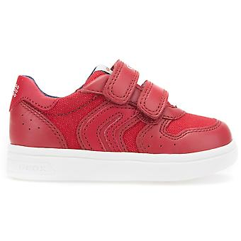 Geox Boys DJ Rock B822CB Trainers Red
