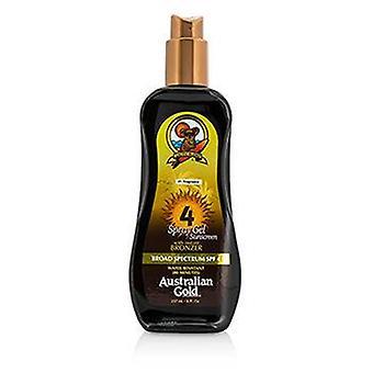 Australian Gold Spray Gel Sunscreen Broad Spectrum SPF 4 with Instant Bronzer - 237ml/8oz