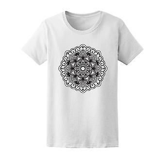 Schwarze und weiße Mandala T-Shirt Frauen-Bild von Shutterstock