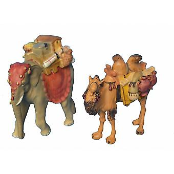Nativity accessories Nativity set with camel and elephant stable creche Nativity