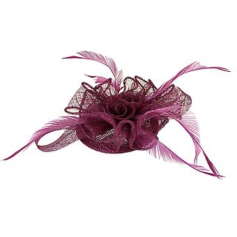 Raspberry Fascinator on Headband/ Clip-in for Weddings, Races and Occasions-6443