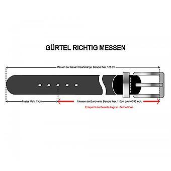 OTTO KERN belt leather belts men's belts brown/chocolate 952