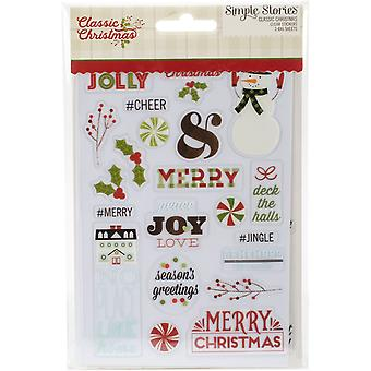 Classic Christmas Clear Stickers 4