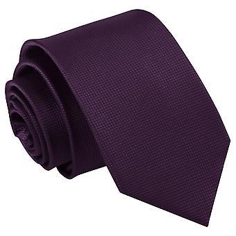 Solido viola Cadbury controllare cravatta Slim