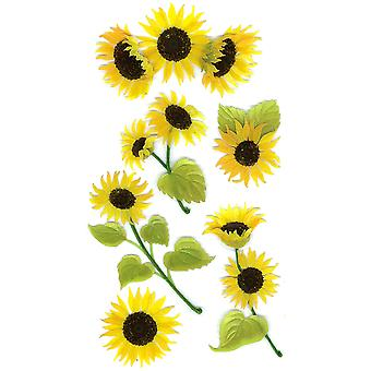 Jolee's Boutique Dimensional Stickers-Sunny Sunflowers